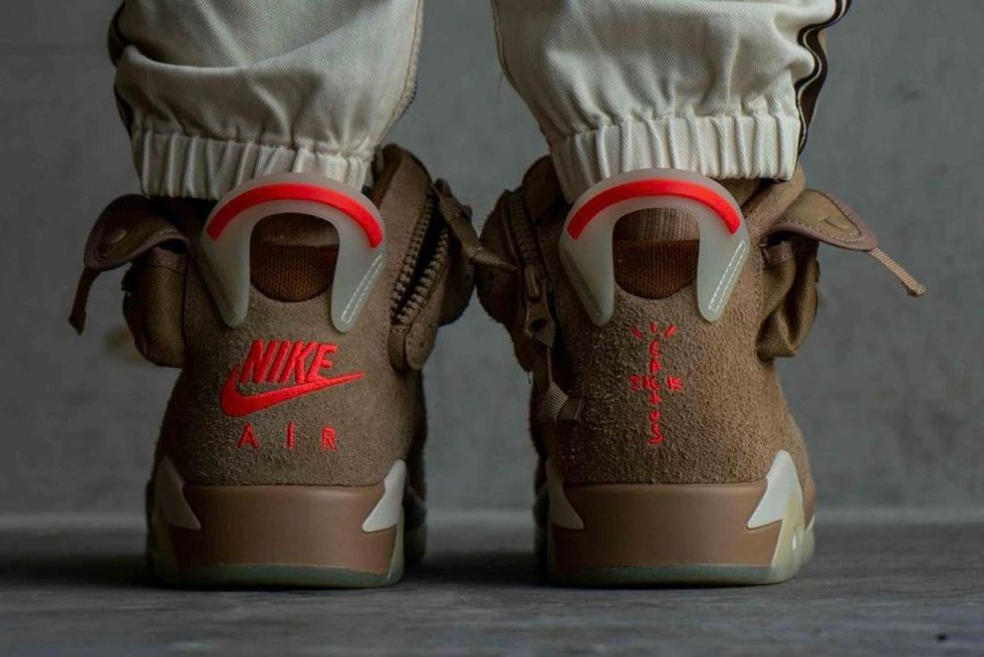 Travis Scott x Air Jordan 6 'British Khaki' Up Close