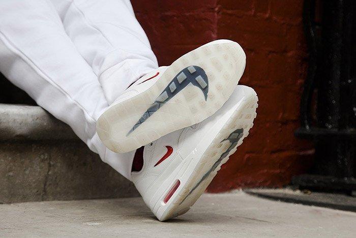 Nike Air Max 1 Jewel White Red 2
