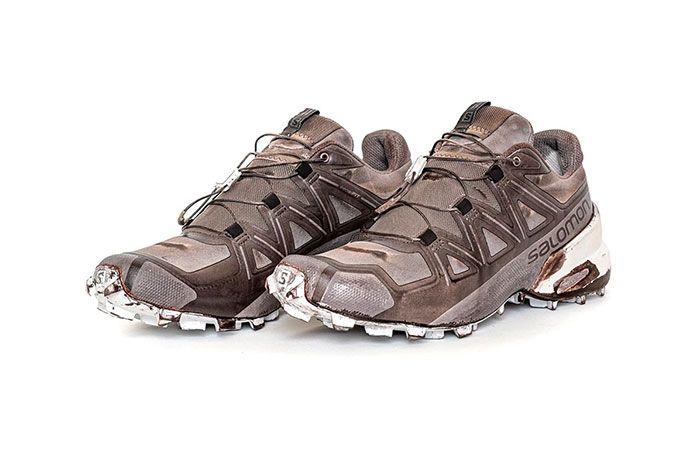 11 By Boris Bidjan Saberi X Salomon Spring Summer 2020 Footwear Low Brown Three Quarter Angle Side Shot