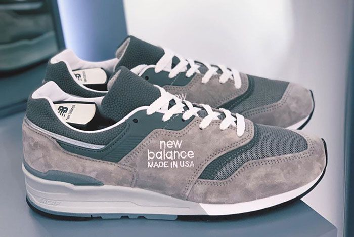 New Balance 997 Grey Alternate Logo