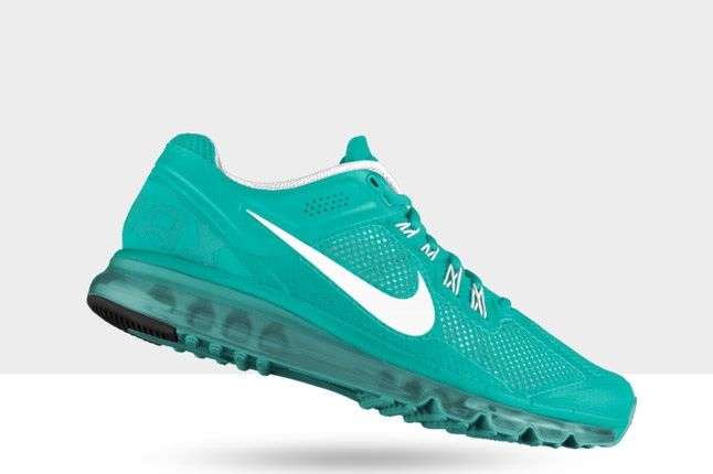 Nikeid Air Max Aqua Blue And White Profile 1