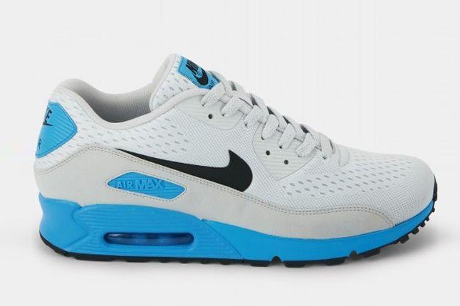 Nike Air Max 90 Premium Em White Blue Profile 1