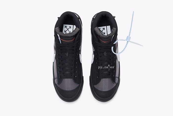 Off White Nike Blazer Mid New Canvas Black 7