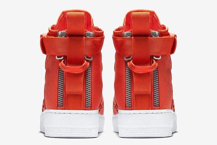 Nike Sf Air Force 1 Mid Team Orange 3