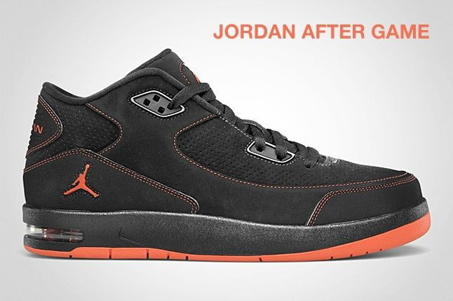 Jordan After Game Black Orange 1