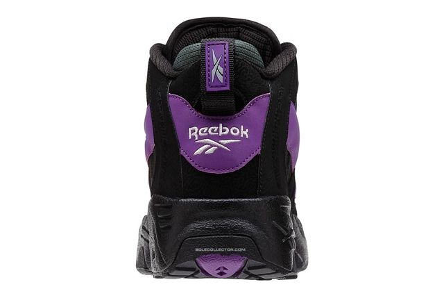 Reebok The Rail Black Purple Olive Heel