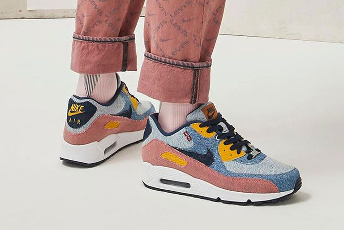 Levis Nike By You Af1 Am90 2 On Foot