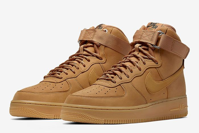 Nike Air Force 1 High Wheat Flax Cj9178 200 Front Angle
