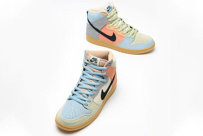 Nike Sb Dunk High Easter Spectrum Cn8345 001 Release Date 3 On White