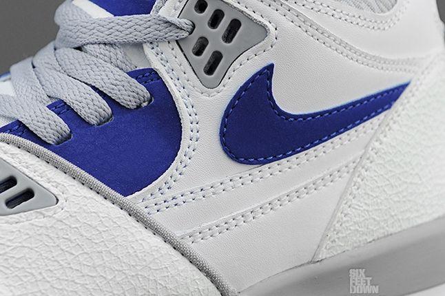 Nike Air Flight 89 White Hyper Blue Midfoot Detail 1
