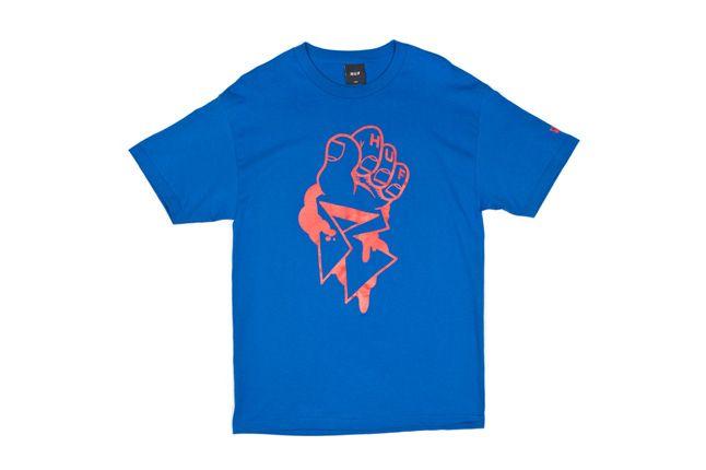 Huf X Remio Tee Blue Front 1
