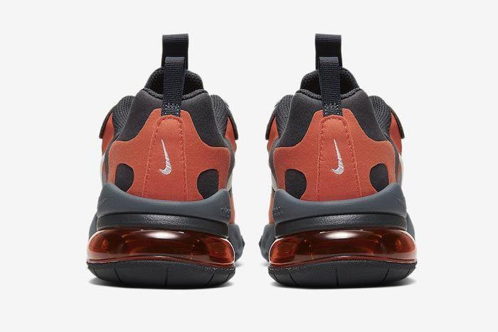 Nike Air Max 270 React Grey Orange Gs Heels