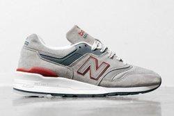 New Balance 997 Grey Red Thumb