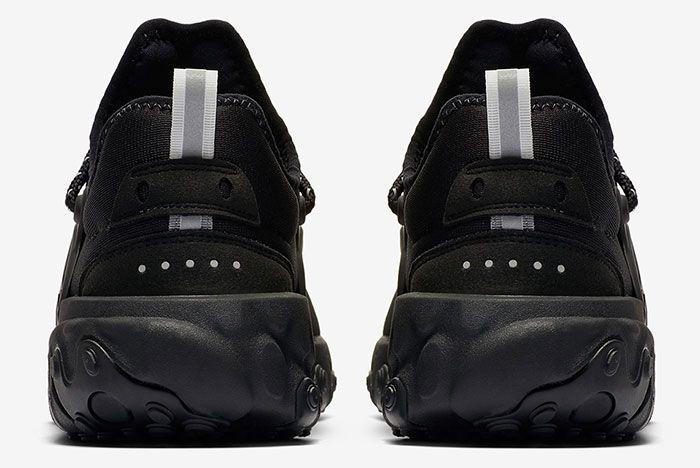 Nike React Presto Triple Black Av2605 004 Heel