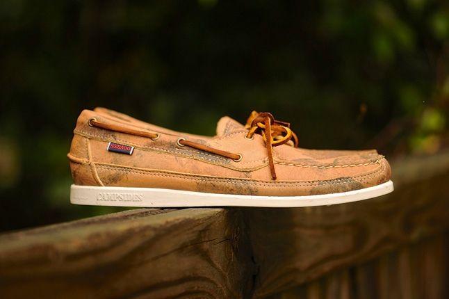 Sebago Boat Tan Leather Profile 1