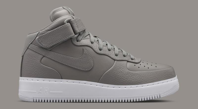Nikelab Air Force 1 Mid Light Charcoal 06 O3Bd9T