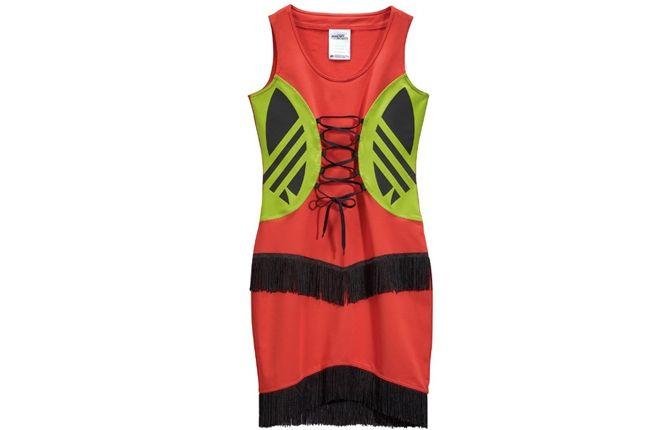 Adidas Jeremy Scott Fringe Logo Dress 4 1