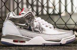 Nike Air Flight Squad Metalliv Silver Feature