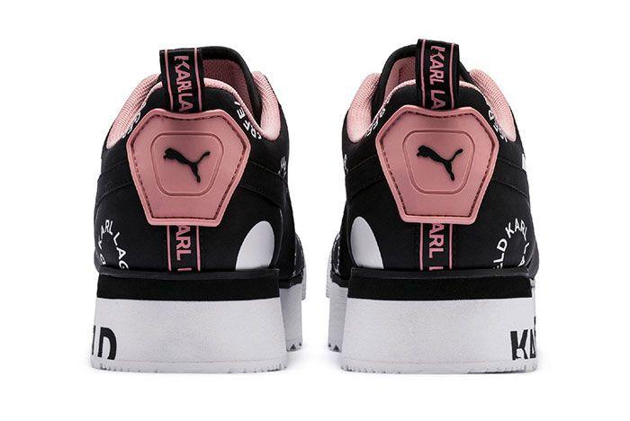 Karl Lagerfeld Puma Roma Pink Heel Shot