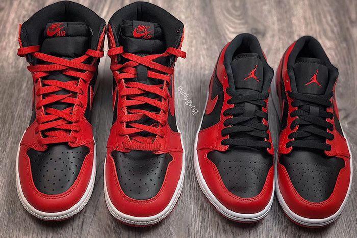 Air Jordan 1 Low Varsity Red Up Close Shot 6