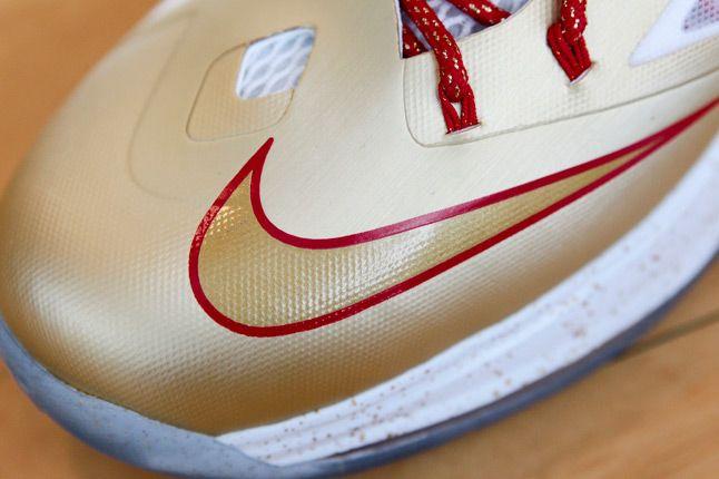 Nike Lebron X Gold Profile Toe Detail 1