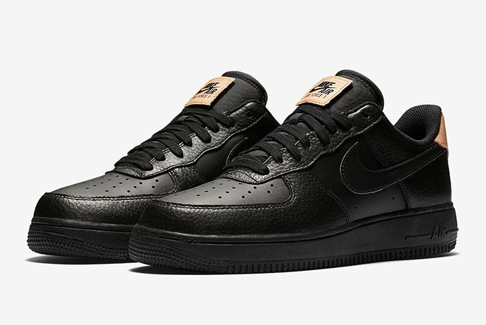 Nike Air Force 1 Low Black Leather 6