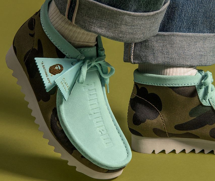 BAPE Clarks Originals Wallabee