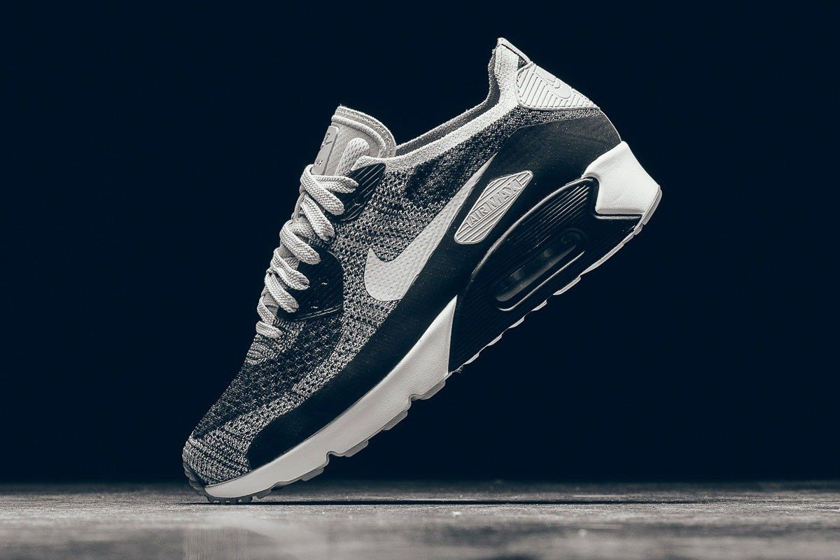 Nike Air Max 90 Ultra Flyknit Wolf Grey Pure Platinum 2