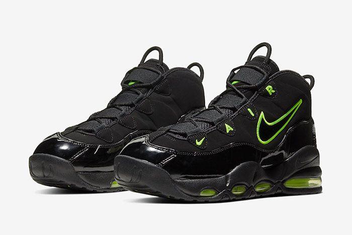 Nike Air Max Uptempo Black Volt Quarter
