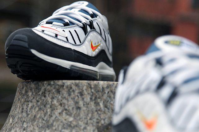 Air Max 98 White Orange Silver 4