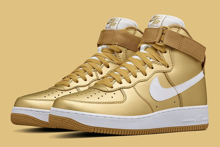 Gold Nike Air Force 1