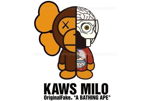Bape Milo Kaws Origianl Fake 1