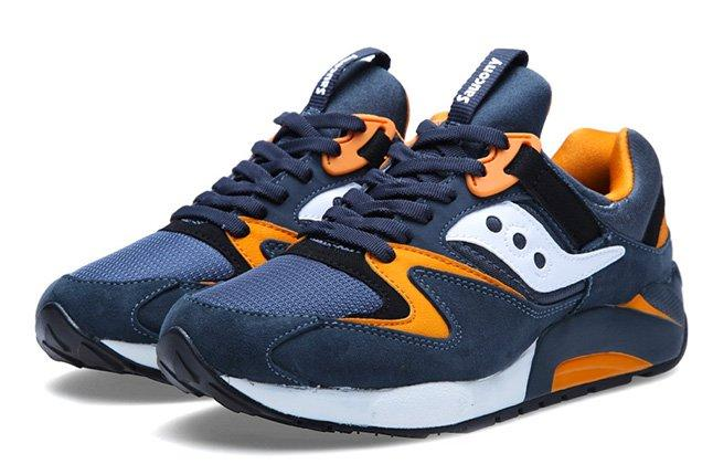 Saucony Grid 9000 Premium Pack Slate Orange 1