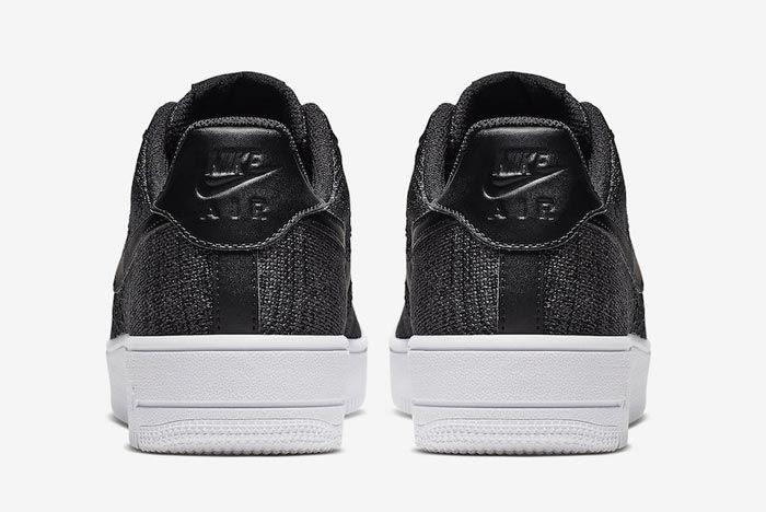 Nike Air Force 1 Flyknit 2 0 Black White Heels