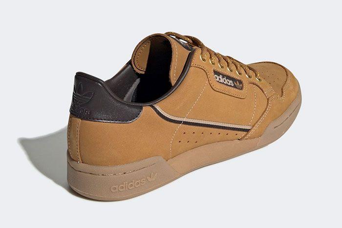 Adidas Continental 80 Wheat Eg3098 Rear Angle