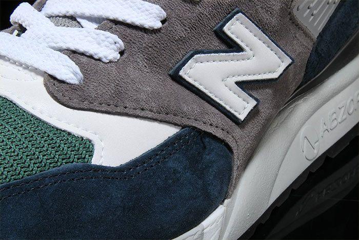 New Balance 998 Navy Green 3