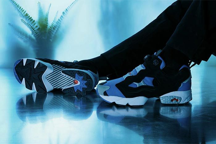 Reebok Instapump Fury Blue Grey Side Shot 2
