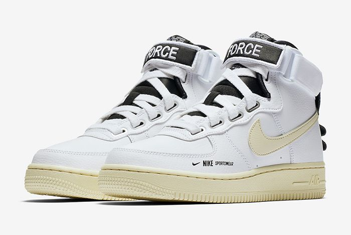 Nike Air Force 1 High Utility White Black 1