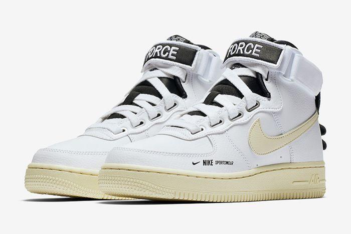 Nike Air Force 1 High Utility White Black 1