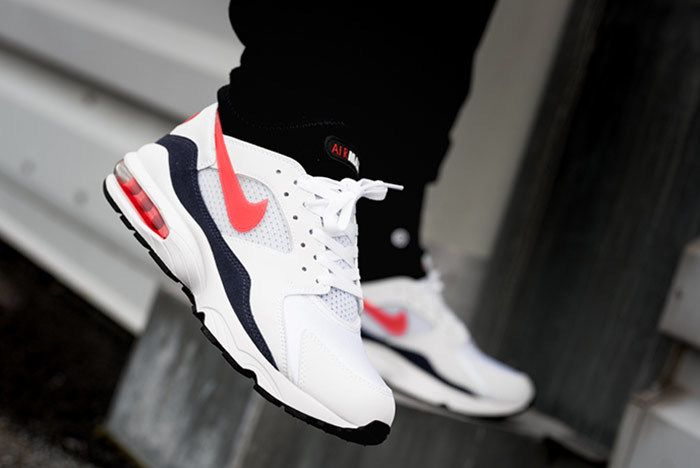 Nike Air Max 93 Habanero Red On Foot 2