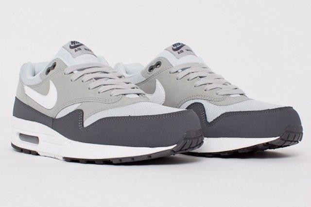 Nike Air Max 1 Essential Dark Grey White Silver Pure Platinum 1C 1
