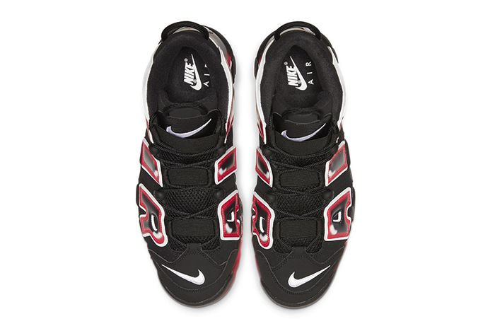 Nike Air More Uptempo Black Red Top
