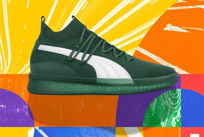 Puma Clyde Court City Pack Green White Left Side Shot