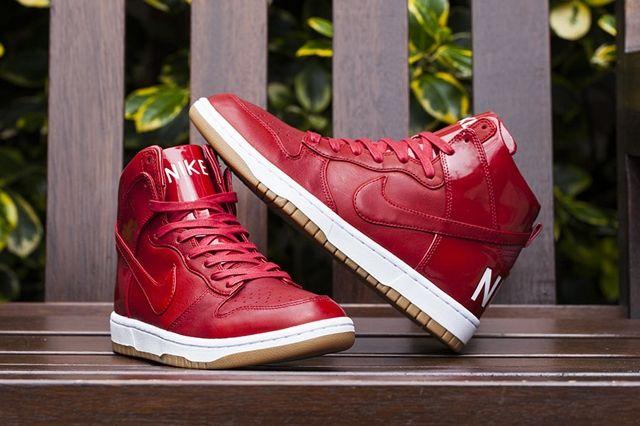 Nike Dunk Hi Lux Sp Gym Red Bumper 6