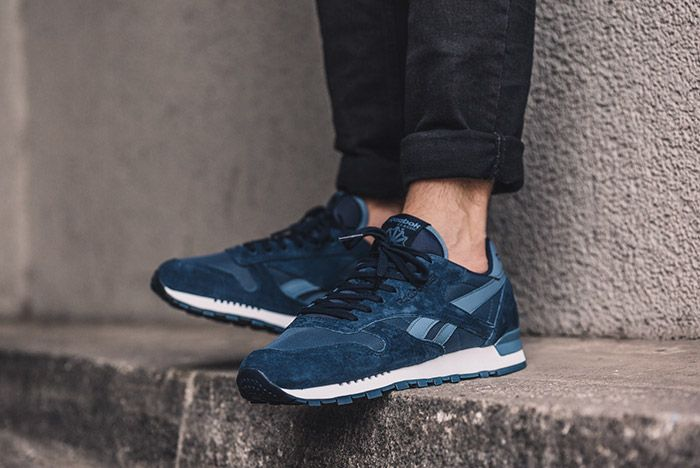 Reebok Classic Leather Clip Ele Navy Blue 2