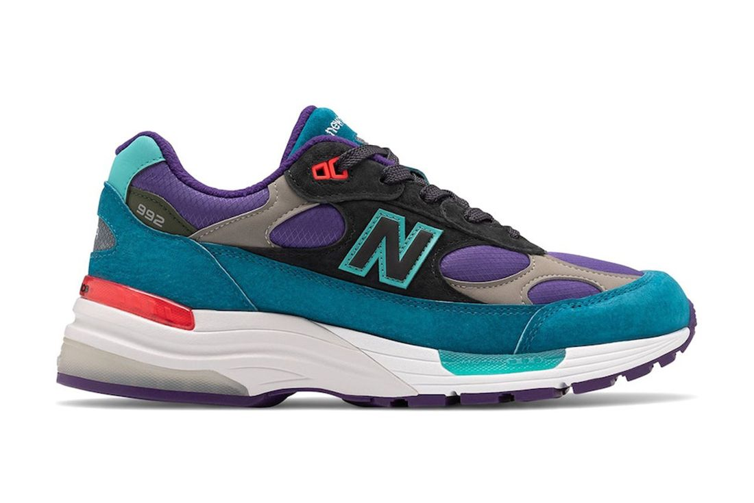 New Balance 992 Teal Purple Right