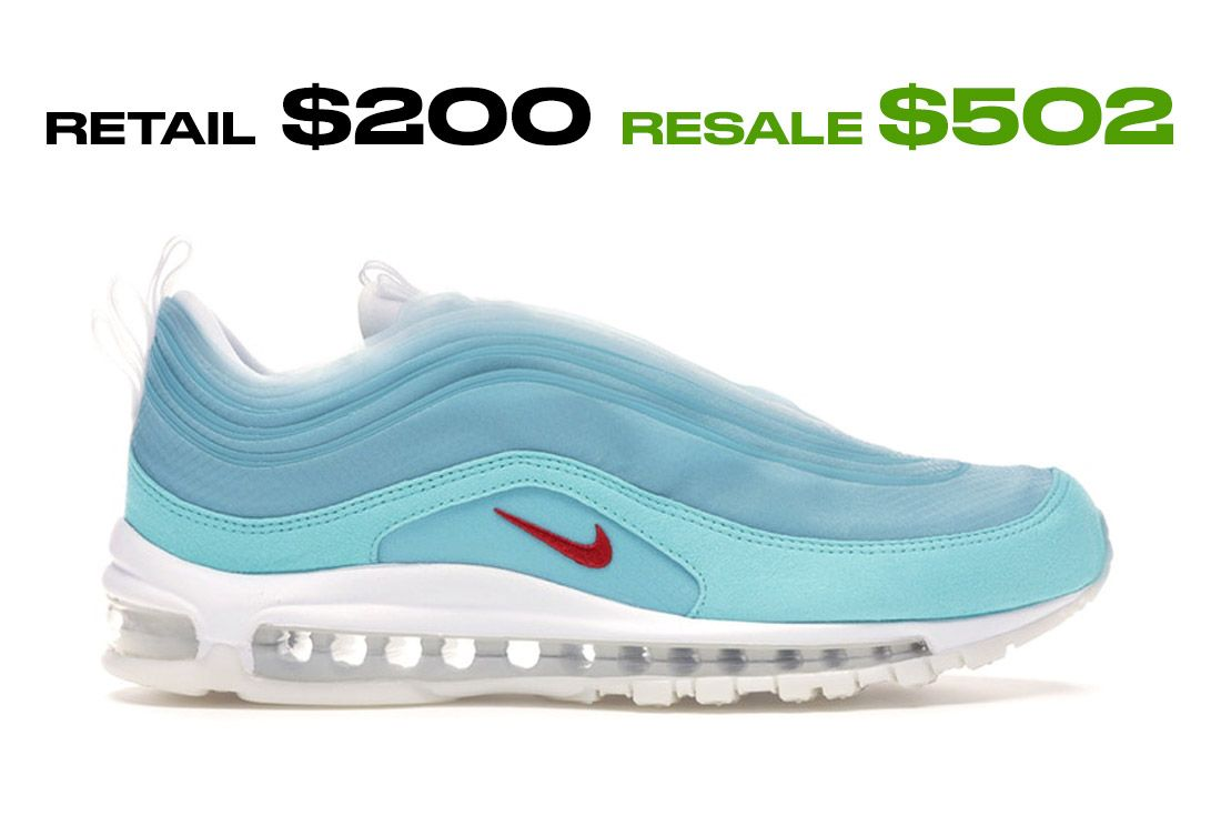 Stockx Resale Nike Air Max 97 Shanghai Right Side Shot