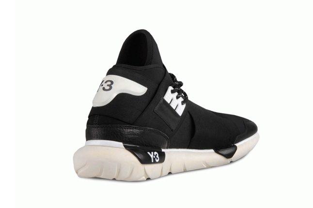 Y 3 Qasa High Black Heel Profile