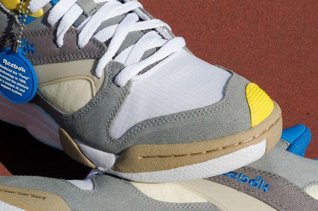 Reebok Court Victory Pump Nautical Pack Grey Yellow Toe 1