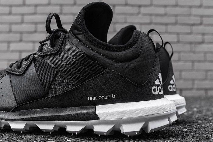 Adidas Response Trail Boost Black White 1